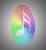 Rainbow Music Finger Print