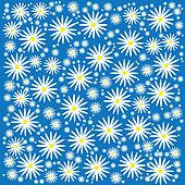 Floral camomile background