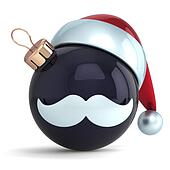 Christmas ball black Santa Claus