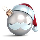 Christmas ball silver Santa icon