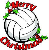 Volleyball Merry Christmas