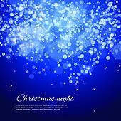 Dark blue night christmas background