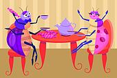 Bugs drink tea