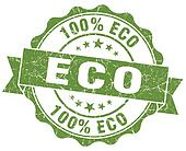 eco green vintage seal isolated on white
