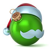 Christmas ball Santa Claus green