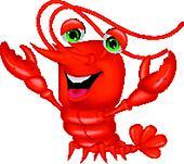 Cute lobster cartoon presenting