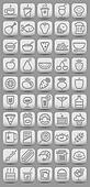 buttons witn food icons. Vector illustration
