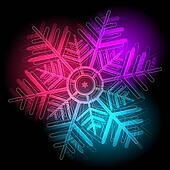 Glowing colorful snowflake