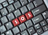 Sos on keyboard