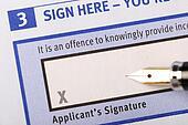 Applicant's signature
