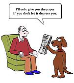 Dog will not hand over paper
