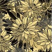 Seamless pattern with chrysanthemum flowers. Vector illustration.