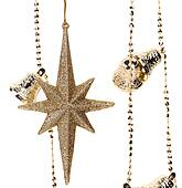 Garland with stars and jingle bells.