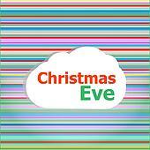 Christmas invitation card, christmas eve word on abstract cloud