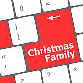 christmas family message button, keyboard enter key