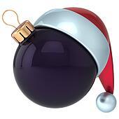 Christmas ball black ornament