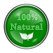 100 percent natural icon