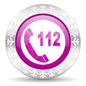 emergency call christmas icon
