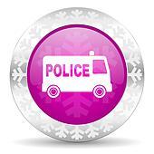 police christmas icon