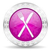 restaurant christmas icon