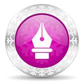 pen christmas icon