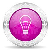 bulb christmas icon