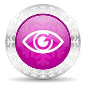 eye christmas icon