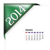 January of 2014 calendar