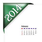 February of 2014 calendar