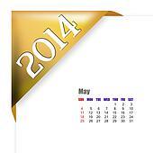 May of 2014 calendar