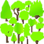 Tree and bushes set ecology vector background concept