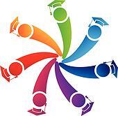 Teamwork graduates students logo