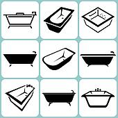 Bath Icons Set