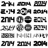 New Year 2014 Design Set