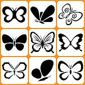 Butterfly Icons Set