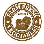 Potatoes vegetable stamp or label