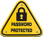 Password Protected Clip Art - Royalty Free - GoGraph