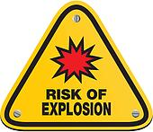risk of explosion - triangle sign