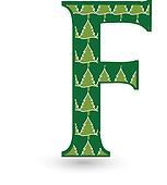 Letter F Christmas tree