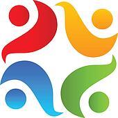 Teamwork hug logo