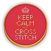Keep Calm and Cross Stitch, Hoop