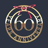 60th anniversary clip art royalty free gograph for 60 wedding anniversary symbol