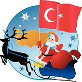 Christmas Turkey Clip Art - Royalty Free - GoGraph