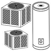 central air conditioner clipart. air conditioner; water heater and conditioner central clipart n
